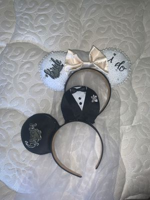 Bride and Groom Wedding Disney Mickey Mouse ears for Sale in Oceanside, CA