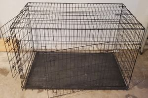 X-Large 2-Door Foldable Metal Dog Crate for Sale in Euless, TX