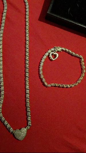 Women's diamond necklace and bracelet 14k for Sale in Pittsburgh, PA