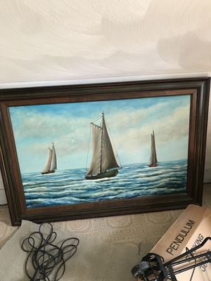 Nautical hand painted large painting for Sale in Boston, MA