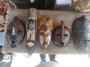 Hanb carved african mask 25 dollers each for Sale in Montclair, CA