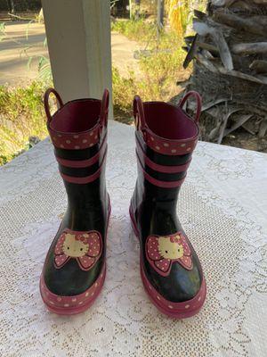 Hello Kitty Rain boots size 11/12 for Sale in Escondido, CA