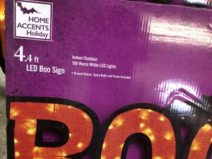 """4' """"BOO """" LED sign for Sale in Aurora, OH"""