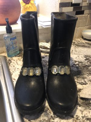 Black Michael Kors rain boots for Sale in Plano, TX