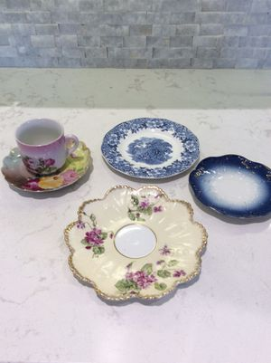 Antique shabby chic mixed dishes lot for Sale in Pembroke Pines, FL
