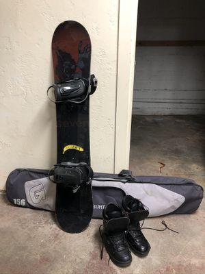 """Burton 7 Snowboard 173"""" (2008) + Boots, Bindings & Bag! for Sale in Seattle, WA"""