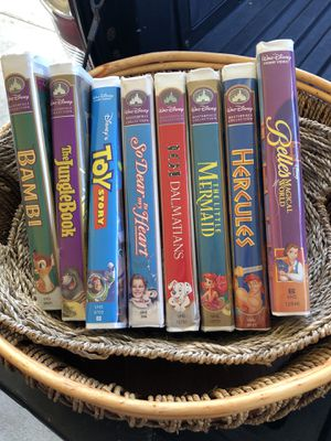 Vintage VHS Tapes (Walt Disney) 8 different Tapes $5 Each for Sale in Kaneohe, HI