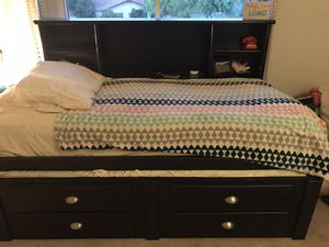Trundle bed - twin with drawers and storage for Sale in Phoenix, AZ