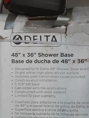"Delta shower base 48""×36"" for Sale in Alexandria, VA"