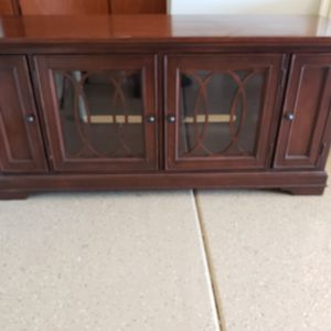 Solid wood TV Stand w/ built DVD holders for Sale in Sun Lakes, AZ