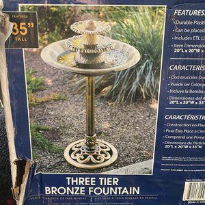 Bronze Plastic Bird Bath Fountain for Sale in Maywood, CA