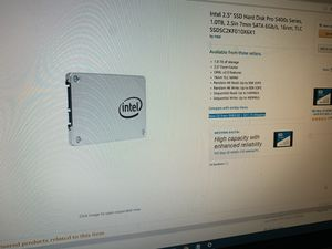 1 TB INTEL SSD *RARE* for Sale in Vancouver, WA
