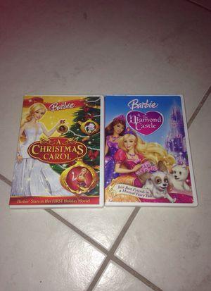 2 Barbie Movies: A Christmas Carol & Diamond Castle for Sale in Largo, FL