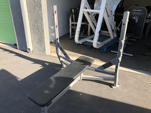 Hammer strength commercial bench press for Olympic weight lifting (Ivanko weights not included) for Sale in Placentia, CA