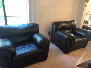 Black leather Armchairs for Sale in Vienna, VA
