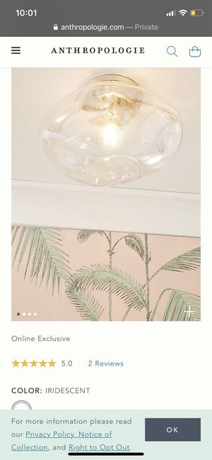 Anthropologie Ceiling Lamps for Sale in Santa Monica, CA