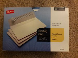 Staples Ivory Greeting/Invitation Card Envelopes 71 Count NEW open box for Sale in Oxnard, CA