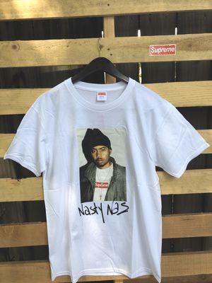 Supreme 'Nas' Tee White (L) for Sale in Baton Rouge, LA