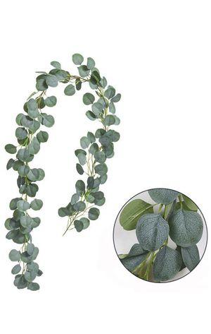 2x Kalolary (6.5 Feet each) Eucalyptus artificial Garland. Guirnaldas de eucalipto artificial. for Sale in Miami, FL