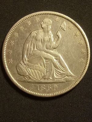 1860-O SEATED LIBERTY HALF-DOLLAR *ALMOST UNCIRCULATED! *OLD 🇺🇸 SILVER COIN for Sale in Los Angeles, CA