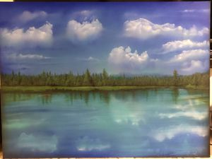 Wonderful painting of the Deschutes River for Sale in Seattle, WA