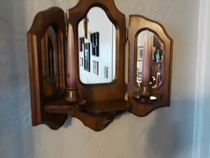 Wow mirror with two candles for Sale in Pittsburgh, PA