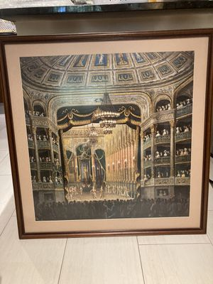 Framed (anti reflex glass) The Opera theater French Poster for Sale in Miami, FL