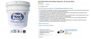 Pool patch plaster repair kit for Sale in SEATTLE, WA