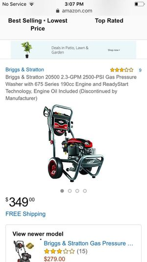 Briggs & Stratton 20500 2.3 GPM 2500-PSI Gas Pressure Washer with 675 Series 190cc Engine and Ready Start technology for Sale in Portland, OR