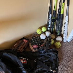 Softball Sports Gear Bundle for Sale in Temecula, CA