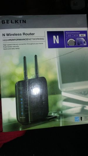 N Wireless Belkin Router for Sale in Cleveland, OH