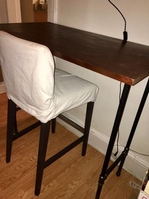 Handmade Bar Height Desk and IKEA Chair for Sale in Brooklyn, NY
