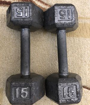 CAP Barbell Cast Iron Hex Dumbbell, 15lbs for Sale in Fairfax, VA