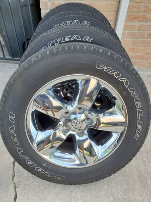 """20"""" Dodge Ram Chrome Wheels and Tires for Sale in Humble, TX"""
