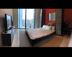 "Entire bedroom set (entertainment unit, 55"" TV, bed frame, memory foam mattress, twin bookshelves, rugs) for Sale in Fort Lauderdale, FL"
