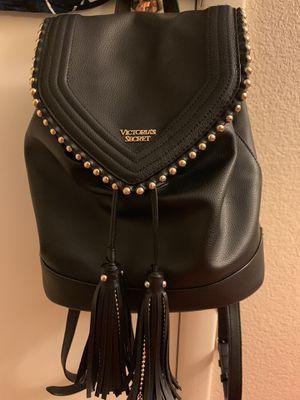Victoria's secret mini backpack black leather for Sale in Las Vegas, NV