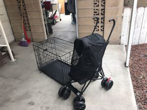ONLY DOG CRATE IS AVAILABLE. STROLLER IS SOLD for Sale in Placentia, CA