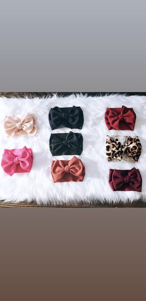 Handmade bow headbands. Baby, infant, and toddler. for Sale in San Jose, CA