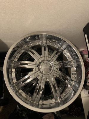 22 inch rims. I ONLY have 3 of them. Price negotiable. Has to be gone in two days for Sale in North Las Vegas, NV