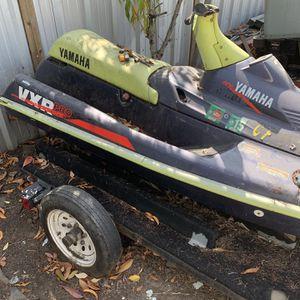 Yamaha Vxr Pro Jet Ski For Parts Plus Decent Trailer for Sale in Hayward, CA