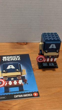 Brickhedz Captain America #41589 for Sale in Vancouver,  WA