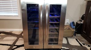 Insignia™ - 42 Bottle or 114 Can Built-in Dual Zone Wine and Beverage Cooler - Stainless steel for Sale in Dyess Air Force Base, TX