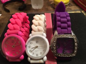 Beautiful super cute 3 watches never used- Firm price for all for Sale in Hammond, IN