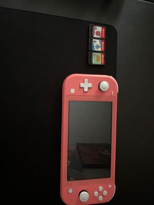 Coral Switch Lite and 3 Games! for Sale in Mint Hill, NC