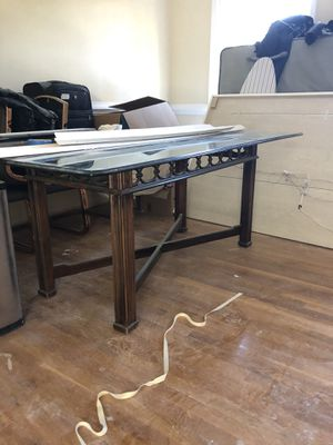 Glass table and wood bottom for Sale in Freehold, NJ