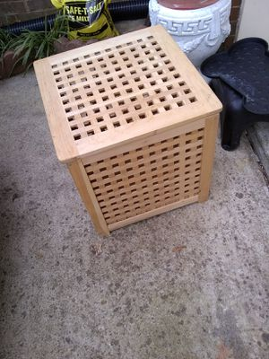 Wooden storage side table for Sale in Alexandria, VA
