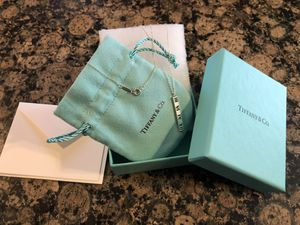 TIFFANY & CO STERLING SILVER ATLAS PIERCED BAR PENDANT NECKLACE **BRAND NEW IN BOX for Sale in Rocky River, OH