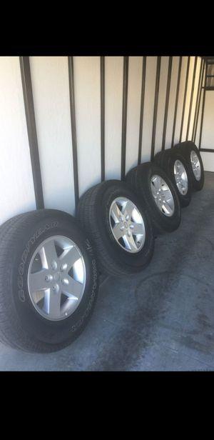 2013 jk wrangler wheels and tire for Sale in Bellflower, CA