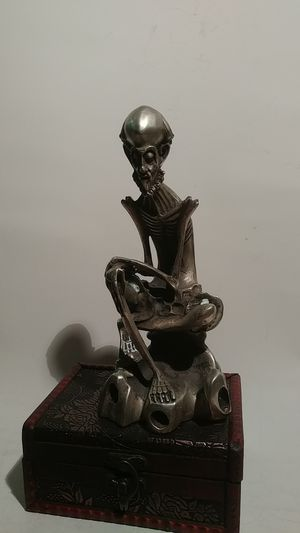 ** ANTIQUE HANDMADE TIBET *VERY ARTISTIC OLD MEN FIGURE* 60% SILVER CAVERED* S: 210×160 MM-784 GR.-1.730 Ib.** for Sale in Brooklyn, NY
