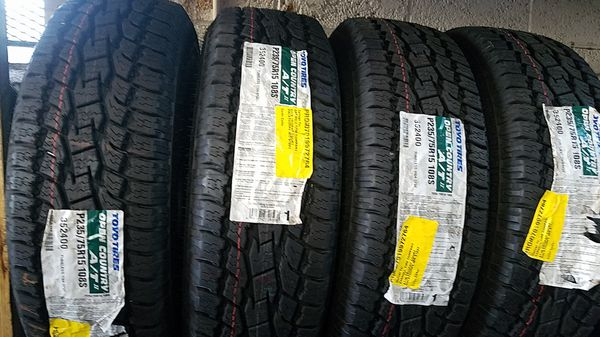 four bright new set of tires for sale 235/75/15